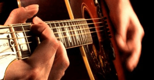 Correct finger placement for fretting notes
