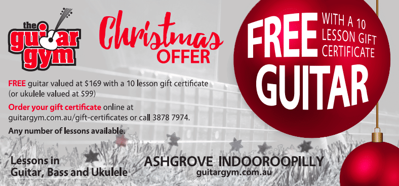 guitar lesson gift certificate